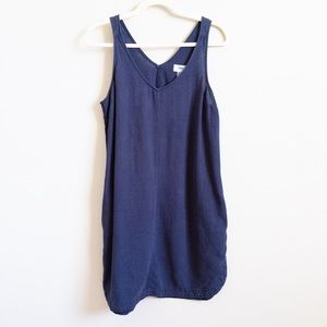 OLD NAVY Linen Cocoon Dress in Navy w/ Pockets | S